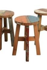 Boatwood-stool round Dia30 cm  H 48cm