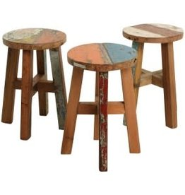 Boatwood-stool round
