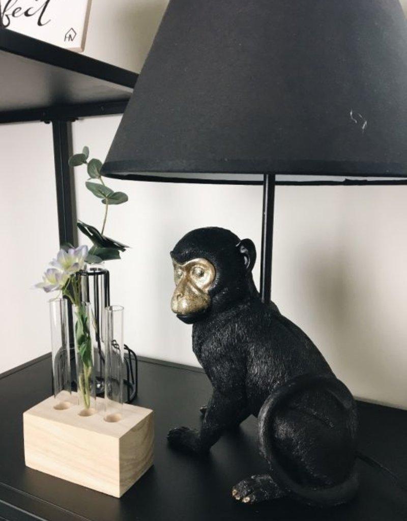 Schemerlamp met zittend zwart Aapje
