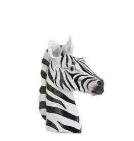 Zebra kop zwart/wit