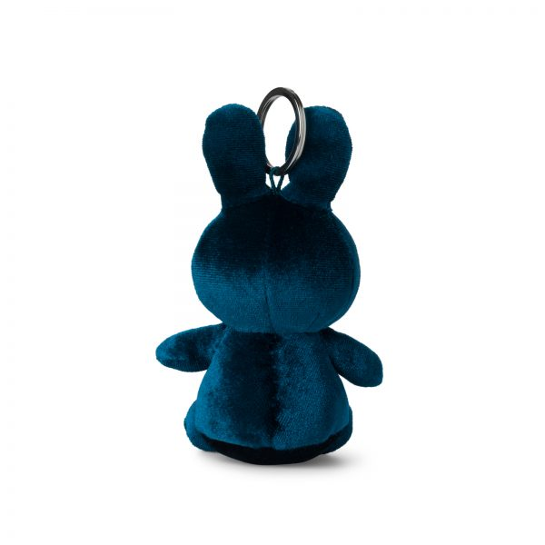 Nijntje/Miffy/Snuffy Miffy Keychain Velvet Dark Teal - 10 cm