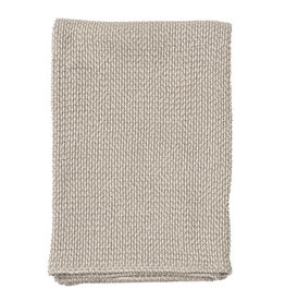 Klippan Klippan Plaid Basket beige,100% Organic Cotton 130x180