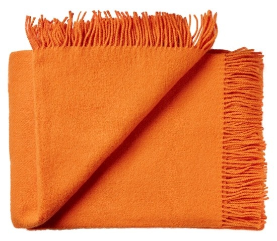 Silkeborg Plaid Athen Orange 130x200 100% Lambswool