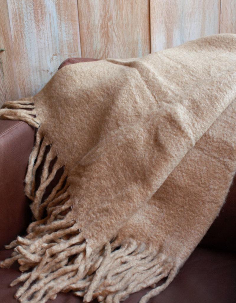 Camel Plaid  130x170cm  van Acryl/Poly/Wool