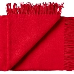 Silkeborg Plaid Athen Coral Red 130x200 100% Lambswool