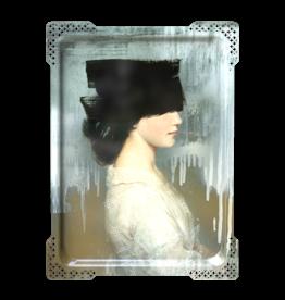 Ibride IDA#2- Rectangular tray Vrouw Zwart  65x47cm