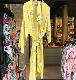 Kimono Swinging Bird Yellow One size