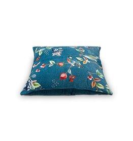 Pip Cushion Birdy Blue 60x60cm incl.binnenkussen