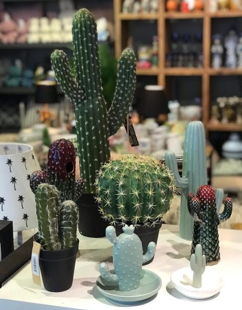 Ornament Cactus Ceramic green