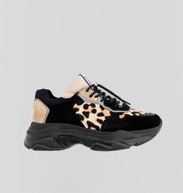 Bronx Baisley Sneakers Black Leopard