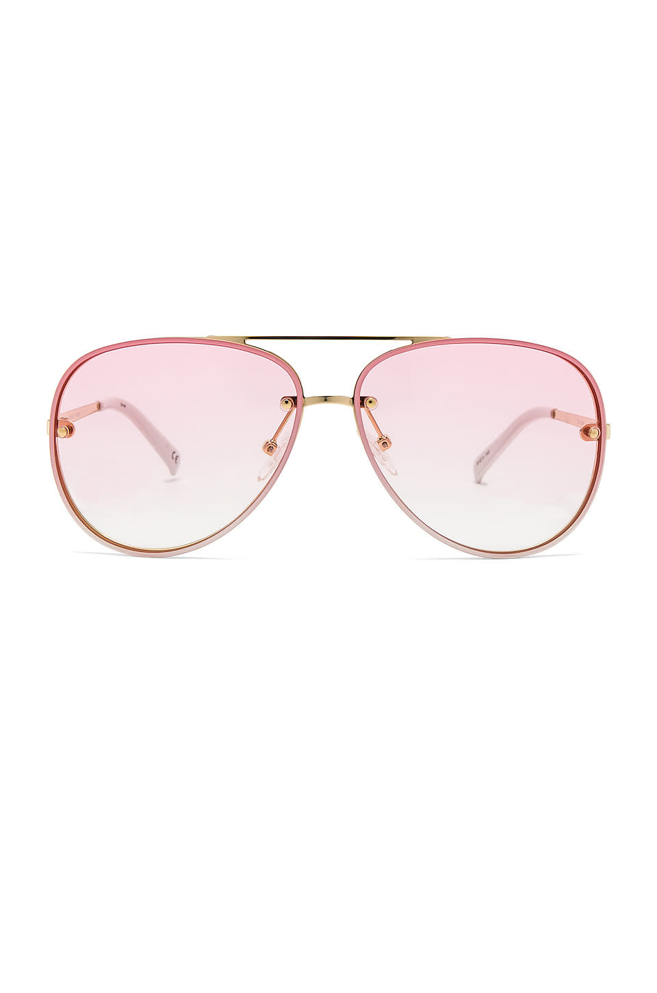 Le Specs HYPERSPACE BRIGHT GOLD / WHITE PINK GRAD