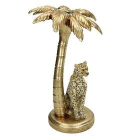 Kaarsenstandaard Luipaard onder Palmboom