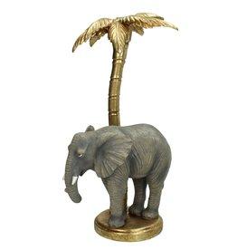 Kandelaar met Olifant onder Palmboom