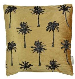 Fluwelen kussen Palmbomen Goud