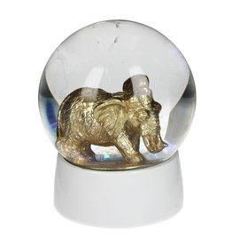 Sneeuwbol van Glas met Olifant 65mm