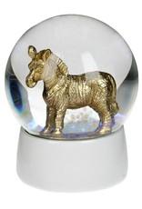 Sneeuwbol van Glas met Zebra 65mm
