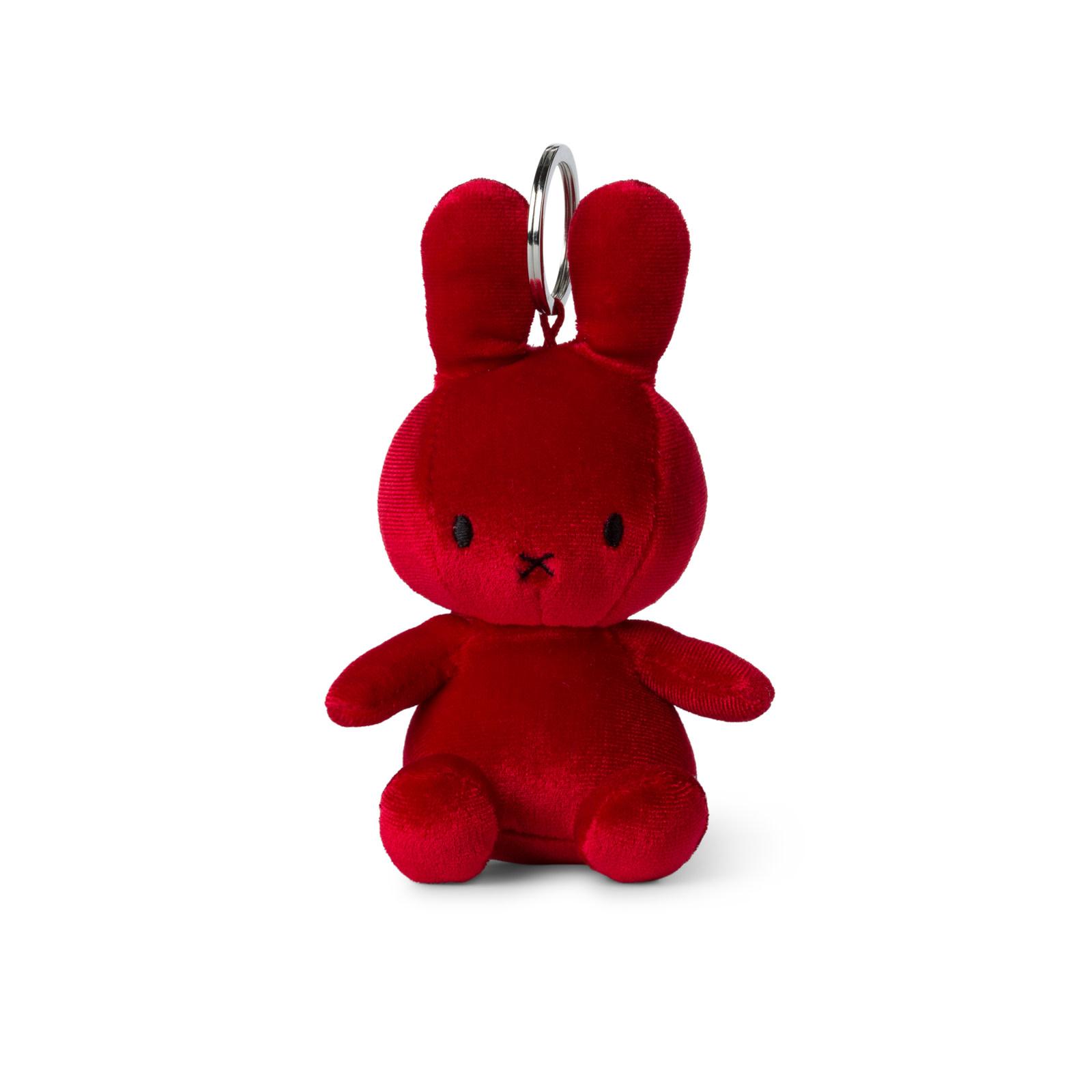 Nijntje/Miffy/Snuffy Miffy Keychain Velvet Candy Red - 10 cm