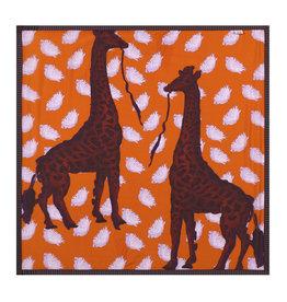POM - Giraffes Orange 100x100cm