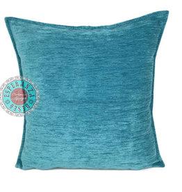 Boho Esperanza Kussens Boho Velvet Kussen  Turquoise Blauw
