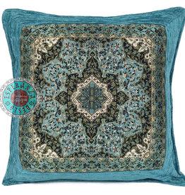 Boho Esperanza Kussens Boho kussen Mandala Flower Turquoise 45x45 incl.binnenkussen