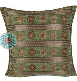 Boho Esperanza Kussens Boho Peru Stripes Olijf Groen 45x45cm