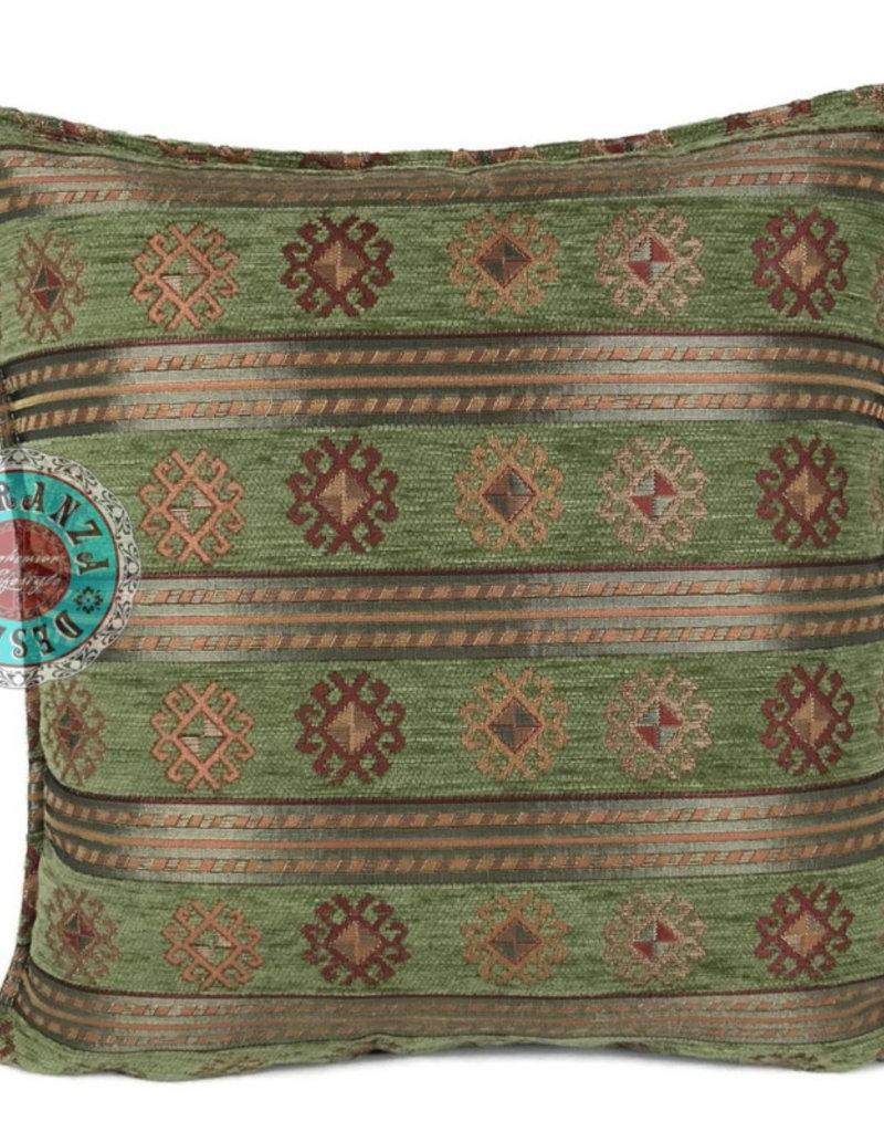 Boho Esperanza Kussens Boho Peru Stripes Olijf Groen 45x45cm incl.binnenkussen