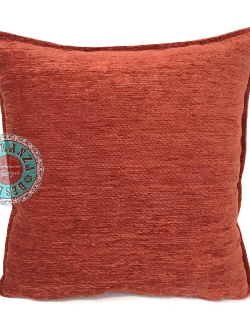 Boho Esperanza Kussens Boho Effen Kussen Brick Oranje 45x45cm incl.binnenkussen