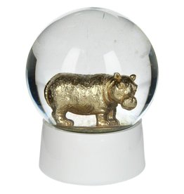 Sneeuwbol van Glas met Hippo 10 cm