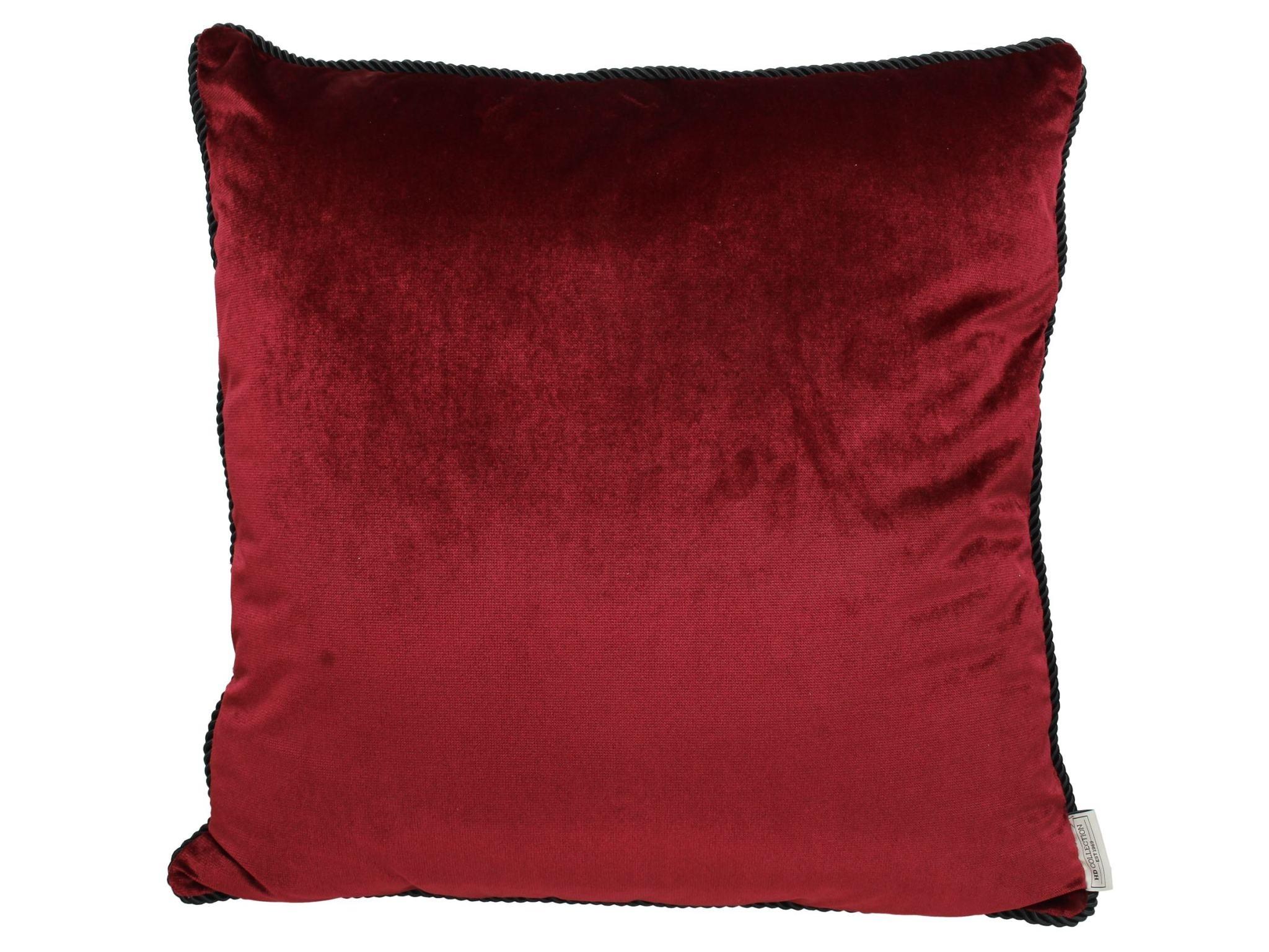 Fluwelen Kussen Rood  60x60cm Incl.binnenkussen