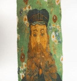 Otra Shawl Van Gogh Zelfportret Blaue Jacke 100% Wol