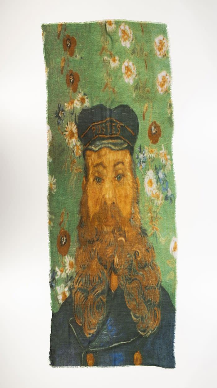 Otra Shawl Van Gogh Zelfportret Blaue Jacke 100% Wol 70x180cm