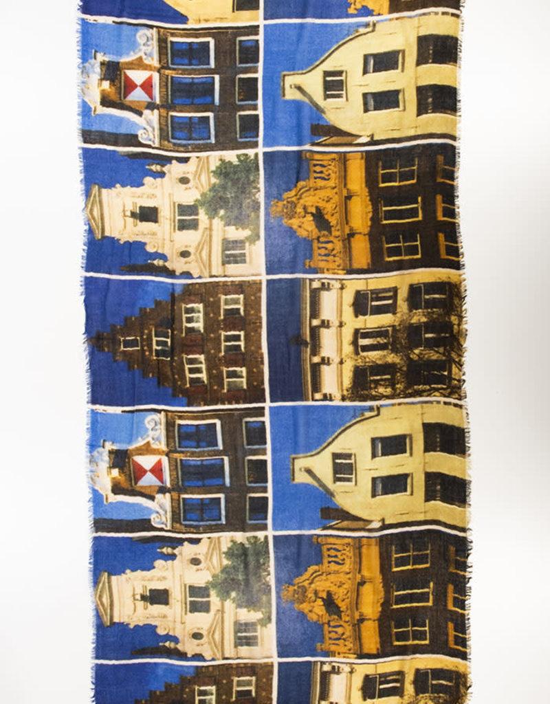 Otra,Shawl Hollandse Huizen 80x180cm 100% Wol 2123