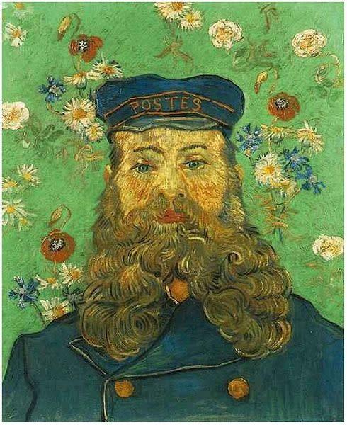 Otra, Shawl Van Gogh Postman Roulin 70x180cm 100% Wol  2165