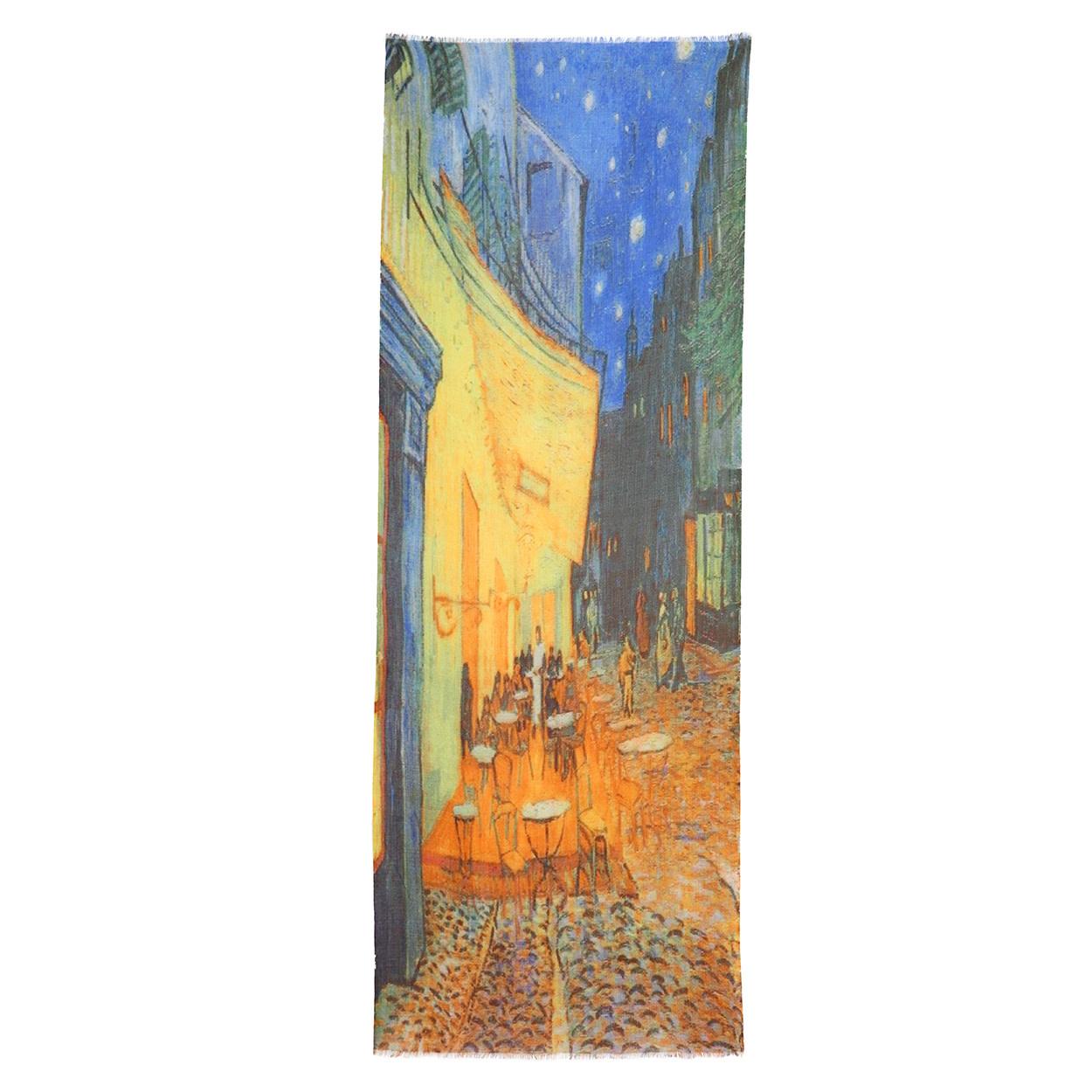 Otra,Shawl Van Gogh Terras bij Nacht 70x180cm 100% Wol