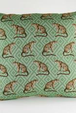 HJ Panter print kussen  groen 44x44 cm