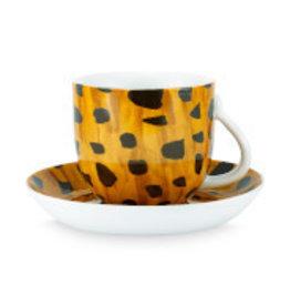 Fab Cup & Saucer Cheetah Spots 280ml