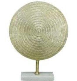 Ornament op voet Metal Gold