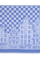 Bunzlau Castle Bunzlau Castle Keukenhanddoek Grachten Huizen Royal Blue  53x60cm