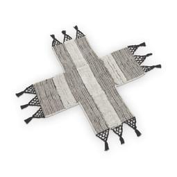 VtWonen Woonaccessoires VT Wonen Cross Vloerkleed Grijs 90x90cm