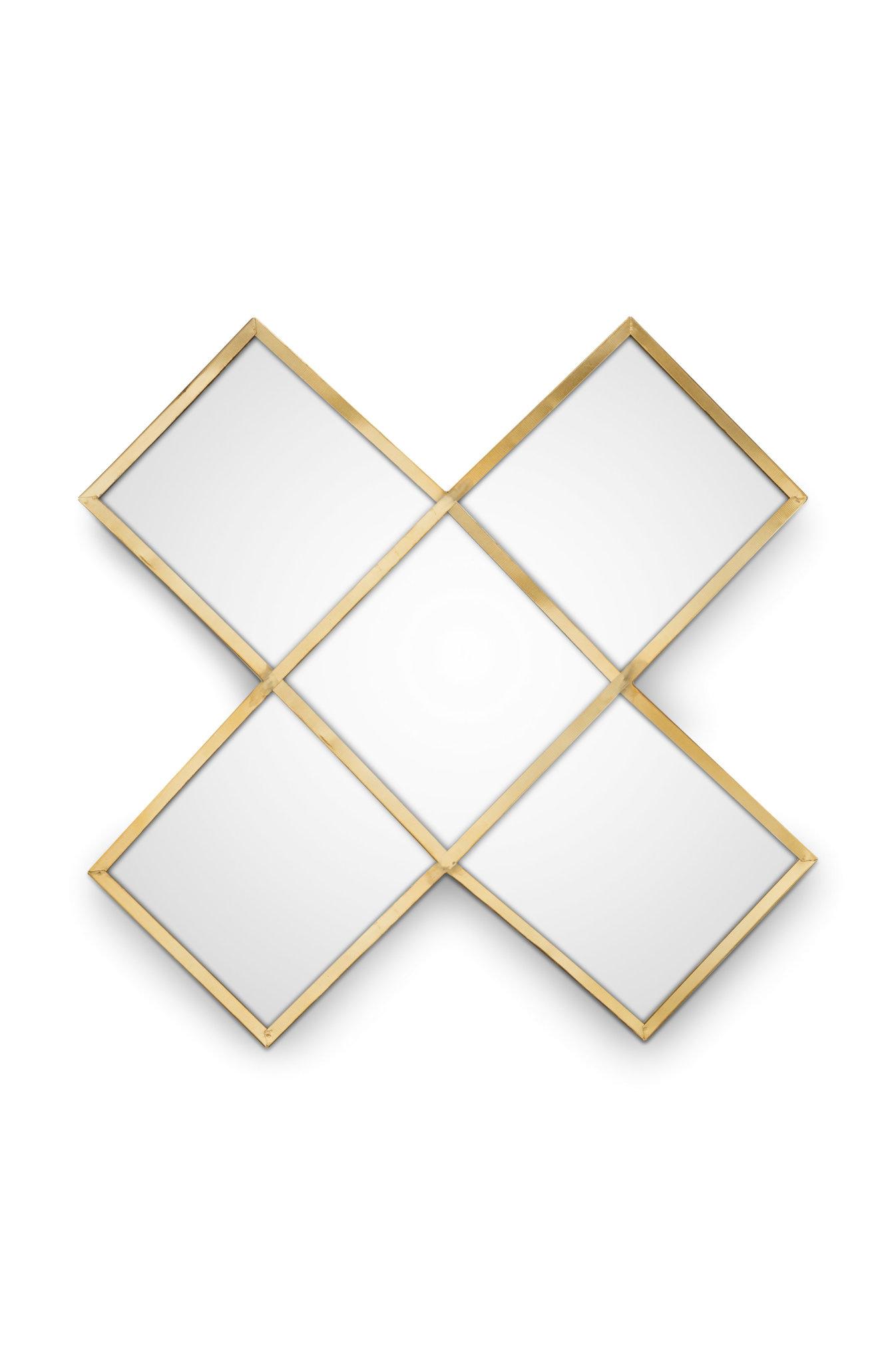 VtWonen Woonaccessoires VT WonenMirror Cross Gold 45cm