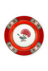 Pip Studio Plate Blushing Birds Red 17cm