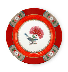 Pip Studio Plate Blushing Birds Red