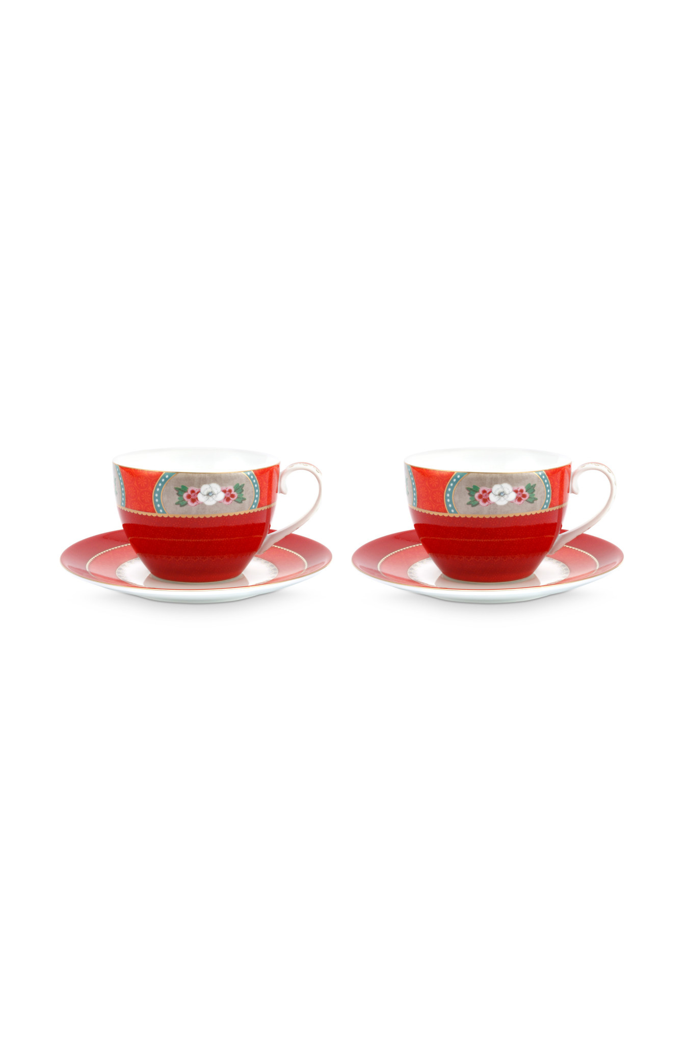 Pip Studio Cup & Saucer Blushing Birds Red 280ml