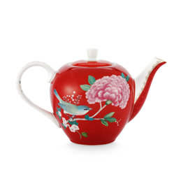 Pip Studio Tea Pot Small Blushing Birds Red 750ml