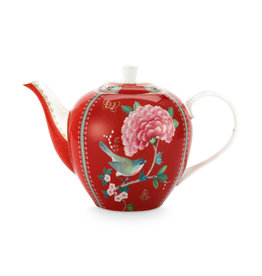 Pip Studio Tea Pot Large Blushing Birds Red 1.6ltr