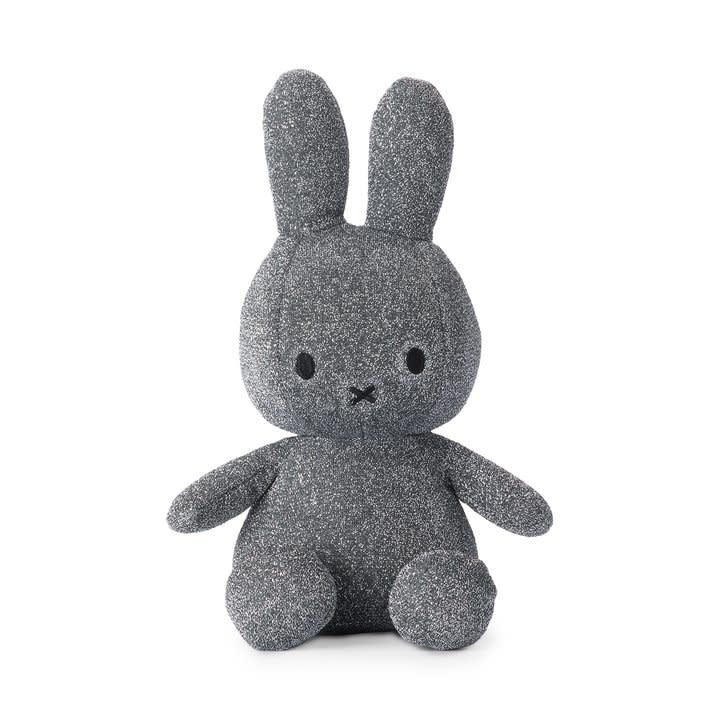 "Nijntje/Miffy Miffy Sitting Sparkle Silver- 23 cm - 9"" Limited Edition"