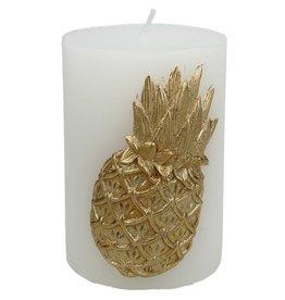 Sierkaars met Gouden Ananas opdruk 7.3x7x10cm