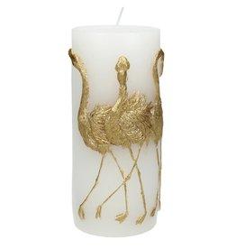 Sierkaars met Gouden Flamingo opdruk 7.3x7x15cm