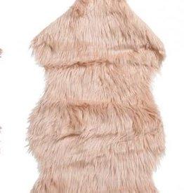 Kleedje van Nepbont Zalmrose 50x90cm
