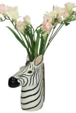 Vaas in vorm van Zebra Keramiek Zwart/Wit